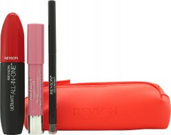 Revlon Love Series Essentials Gift Set 1 x All-in-One Mascara + 1 x Balm Stay + 1 x ColorStay Eyeliner + Cosmetic Bag